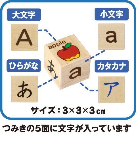 Wooden Hiragana, Katakana series with alphabet blocks (japan import) by Gakken by Gakken (Image #5)