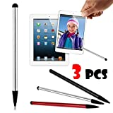 Creazy Universal 3PC TouchScreen Pen Stylus For iPhone iPad For Smartphones - Pack of 3
