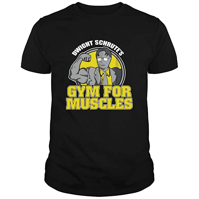 b09526f7 Dwight Schrute Gym for Muscles T-Shirt Men - Shirts Gifts for The Office  Quote