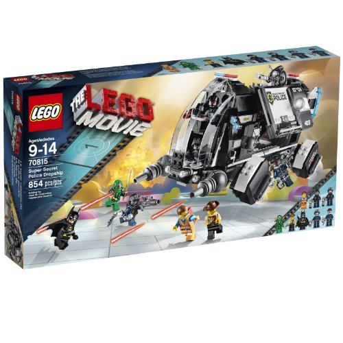 משחק לגו- LEGO Movie 70815 Super Secret Police Dropship Building Set