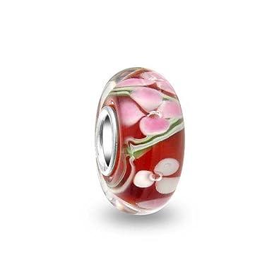 charme perle in vetro di murano compatibile pandora