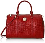Tommy Hilfiger Quinn Satchel Top Handle Bag, Red, One Size