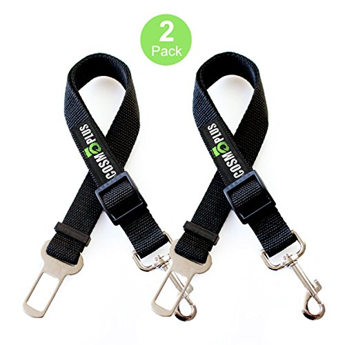 Dog Seat Belts For Cars, Safety Seat Belts For Dogs,Pet Seatbelt,Seat Belt For Dogs,Dog Seatbelt Techer,2 Packs,15 to 26 Inch Adjustable,Small / Medium ,Black (Seat Belt Metal Buckle)