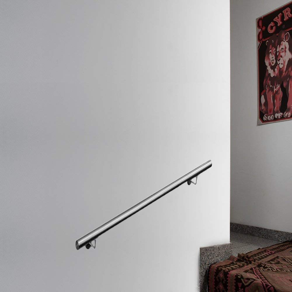 balc/ón Pasamanos de acero inoxidable LARS360 barandilla para escaleras escaleras soporte de pared para interior y exterior armadura barandilla de pared