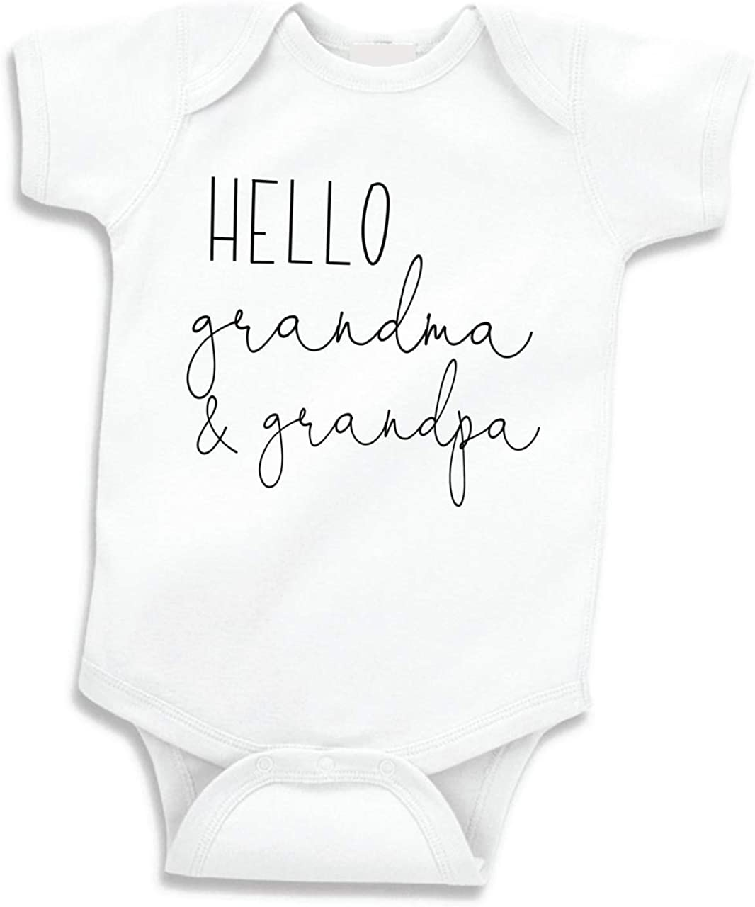 Bump and Beyond Designs Hello Grandma and Grandpa Pregnancy Announcement Gifts: Clothing
