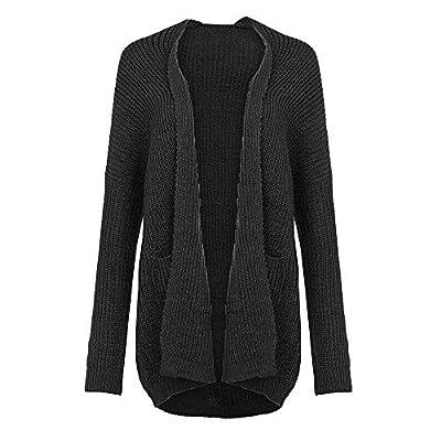 Women's Winter Open Front Coat Cardigan, Jiayit Fashion Women Solid Sweater Long Sleeve Pockets Knitted Cover Up Kimono Cardigan
