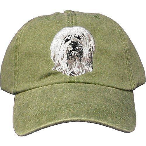 Tibetan Terrier Dog Breed - Cherrybrook Dog Breed Embroidered Adams Cotton Twill Caps - Spruce - Tibetan Terrier