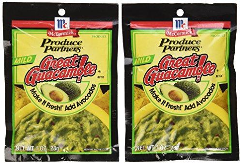 Produce Partners Guacamole Mix, Mild, 1-oz (Pack of 6)