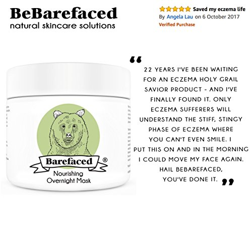 hidratantes Noche Máscara con aguacate para pieles sensibles de bebarefaced - Nutritiva Calmantes cara Tratamiento para piel seca y dehydrierte - Máscara ...