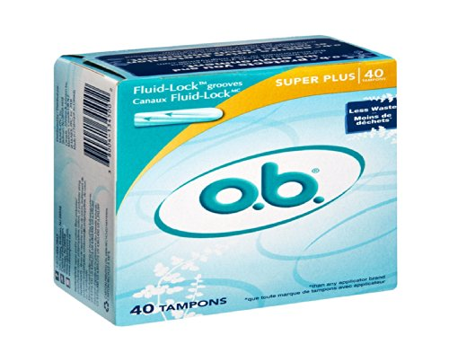O.B. Super Plus Tampons , 40 CT (Pack of 12) by o.b.