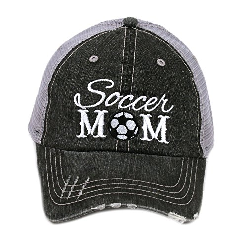 Soccer Mom Sports Game Day Women's Trucker Hats Caps by Katydid