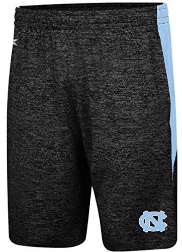 UNC Tarheels Mens Heather Black Fundamentals Polyester Shorts (Unc Basketball Shorts)
