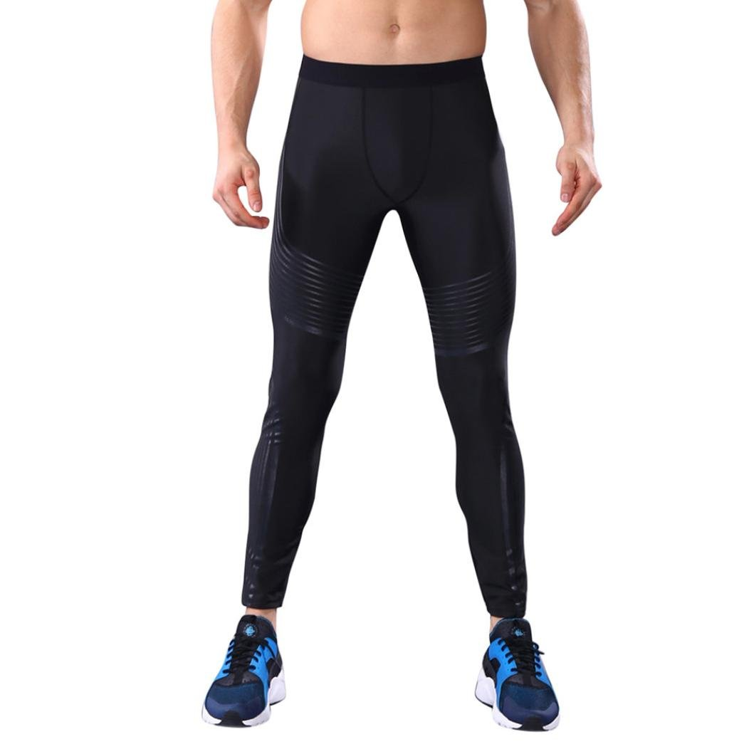 510032c9a5930 Amazon.com: Sunfei Man Fashion Workout Leggings Fitness Sports Gym Running  Yoga Athletic Pants (S, White): Beauty
