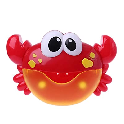 papaGmMilk Creative Baby Bath Toy Crab Bubble Machine Bathroom Bubble Maker Kids Baby Toy Gift: Toys & Games