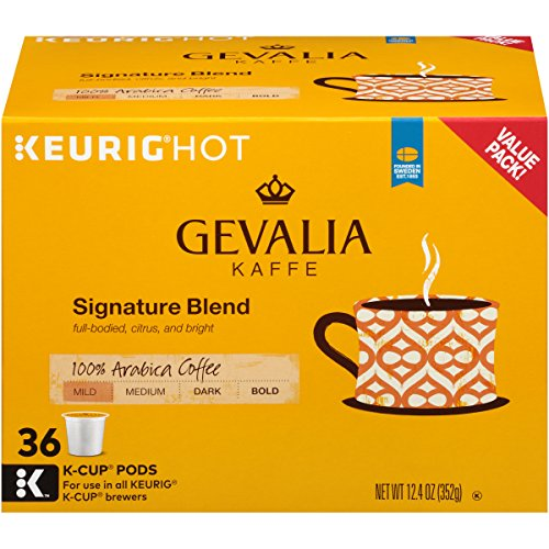 - Gevalia Signature Mild Roast Keurig K Cup Coffee Pods (36 Count)