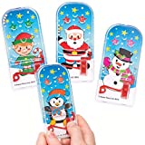 Baker Ross Christmas Pinball Games (Pack Of 8) For Kids Fun Christmas Party Bag And Stocking Fillers