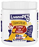 LIVANOPET Organic Calming Treats for Dogs, Bacon Flavored Chewable Supplements – Helps to Relieve Stress & Anxiety, German Brand