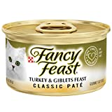 Purina Fancy Feast Grain Free Pate Wet Cat Food; Classic Pate Turkey & Giblets Feast - 3 oz. Pack of 24.