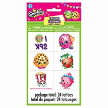 Shopkins Tattoo Sheets, 4ct