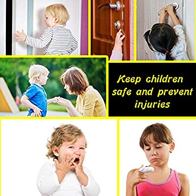 BabyDan Finger Safe Door Stoppers Child Protection Baby Proof 8 Pack