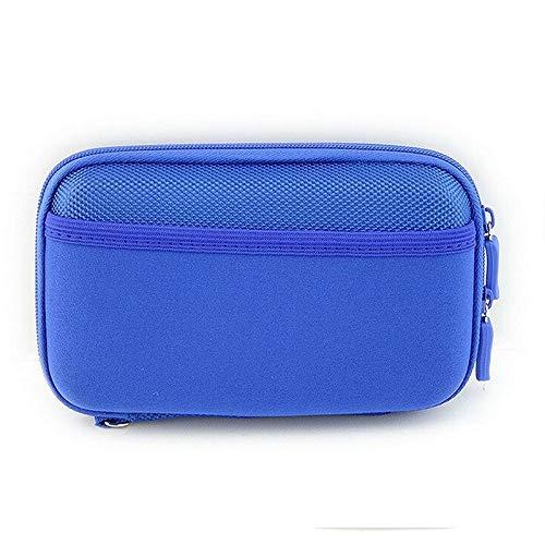MOPOLIS Portable Bags Travel USB Storage Bag Cable Flash Drives Organizer Easy Travel (Color - Blue) -