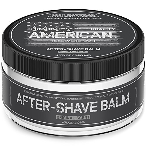 American Shaving After Shave Balm For Men (4oz) - Original Masculine Scent - 100% Natural Moisturizing Aftershave Lotion - Best Aftershave For Men to Soothe & Hydrate Dry Sensitive Skin Post Shave