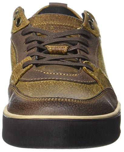 Steve Madden Herren Sneaker Low-Top, Braun, 41 EU