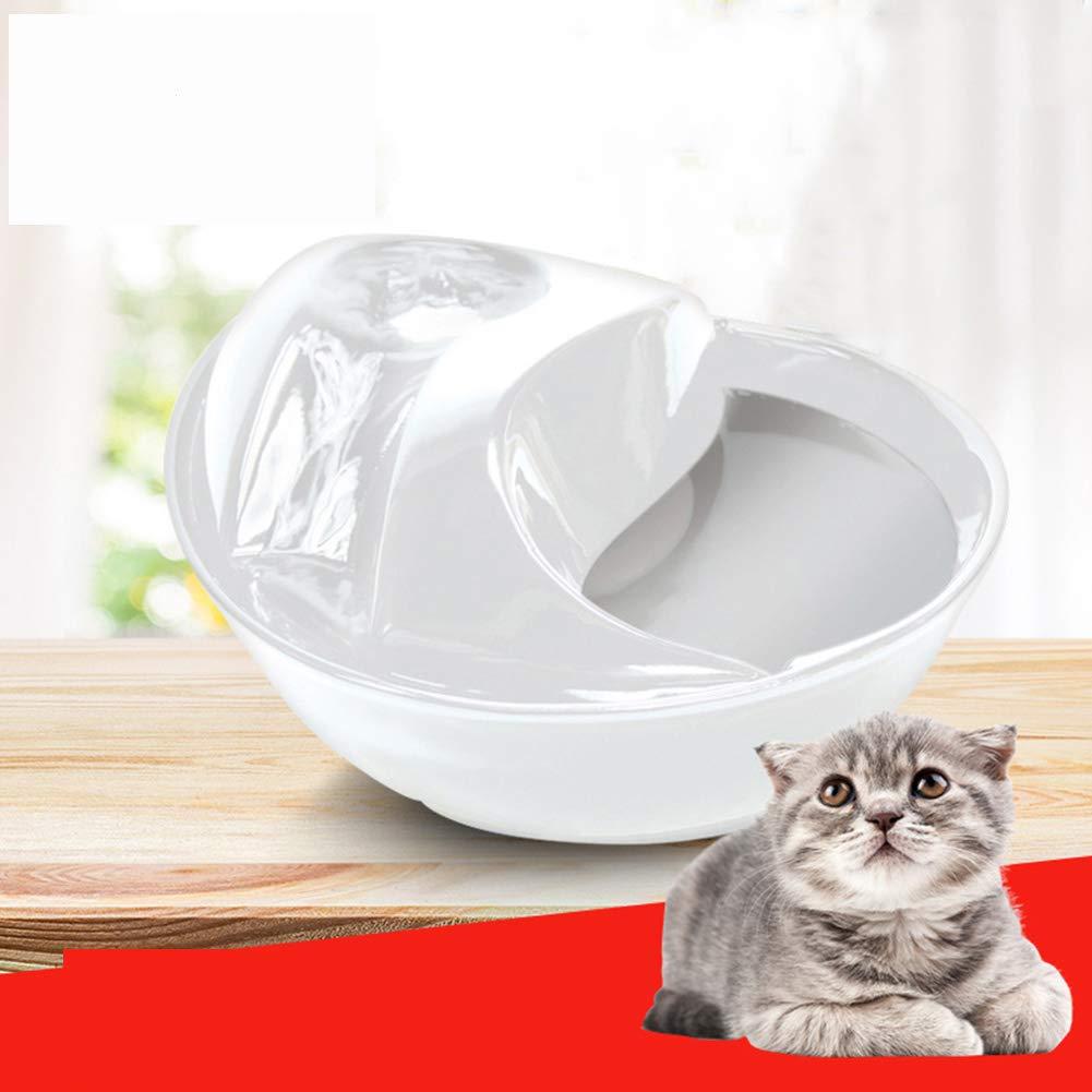 White Daxiong Pet water dispenser Ceramic Drinking Fountain for Pets, Design Rain Drop