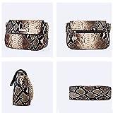 YAOSEN Women Snakeskin Pattern Shoulder Bag PU