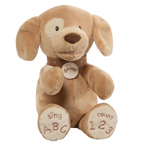 GUND Baby Spunky Doggie ABC 123 Animated Stuffed Animal Plush, Tan, 14