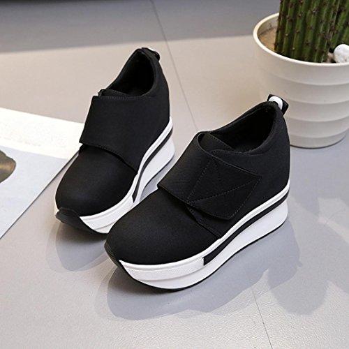 Moda Sneakers C Corriendo Casual Zapatos Mujer Deportes Ponerse Porciones Viajar Lmmvp Tacón Botines Individuales Plataforma De Oculto RxFx1X