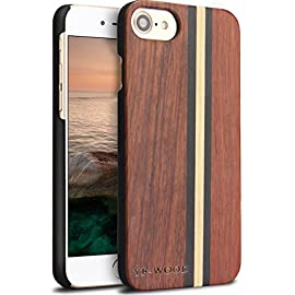 Yfwood compatible for iphone 7 wood case, real wood pattern high impact durable shockproof heavy duty back protective… 17 ❶ wooden iphone 7 case,iphone 8 case ,slim-fit, so it won't make your device bulky, or difficult to manage. Easy to access all ports,controls and buttons without removing the case. The case edges are fully covered and slightly raised to protect your screen from scratches ❷good drop protection with reinforced corners: reinforcement bumper covers all 4 corners that raised bezel to lift screen and camera off flat surface that the iphone 7 wood case offer the maximum protection for your iphone 7/8 when it dropped. ❸ ergonomic design-practical protector, this stylish and luxurious wood cover offers an enhanced grip and textured geometric design that adds even more protection to this iphone 7 case,iphone 8 case
