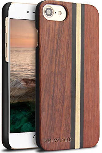 Yfwood compatible for iphone 7 wood case, real wood pattern high impact durable shockproof heavy duty back protective… 1 ❶ wooden iphone 7 case,iphone 8 case ,slim-fit, so it won't make your device bulky, or difficult to manage. Easy to access all ports,controls and buttons without removing the case. The case edges are fully covered and slightly raised to protect your screen from scratches ❷good drop protection with reinforced corners: reinforcement bumper covers all 4 corners that raised bezel to lift screen and camera off flat surface that the iphone 7 wood case offer the maximum protection for your iphone 7/8 when it dropped. ❸ ergonomic design-practical protector, this stylish and luxurious wood cover offers an enhanced grip and textured geometric design that adds even more protection to this iphone 7 case,iphone 8 case