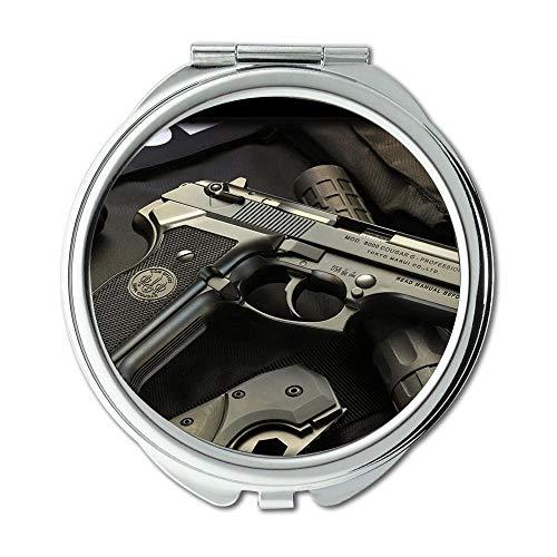 Yanteng Mirror,Makeup Mirror,Gun Lock Box,Round Mirror,hd Gun s p,Pocket Mirror,Portable -
