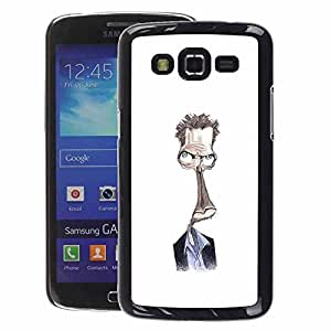 A-type Arte & diseño plástico duro Fundas Cover Cubre Hard Case Cover para Samsung Galaxy Grand 2 (Steve Drawing White Alien Character)