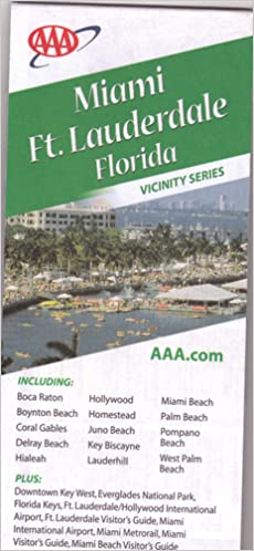 Coral Gables Florida Map.Miami Ft Lauderdale And Vicinity Florida Map Including Boca