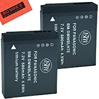 BM Premium 2-Pack of DMW-BLH7 Batteries for Panasonic Lumix DC-GX850, DMC-LX10, DMC-LX15, DMC-GM1, DMC-GM1K, DMC-GM1KA, DMC-GM1KS, DMC-GM5, DMC-GM5KK Digital Camera