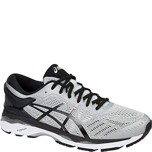 ASICS Men's Gel-Kayano 24 Running Shoe, Silver/Black/Mid Grey, 8.5 Medium US