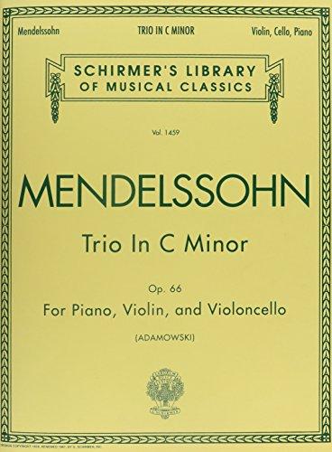 Trio C Minor Op66 For Piano Violin And Violoncello by G. Schirmer