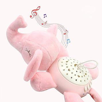 Proyector musical de peluche para bebés, juguete de sueño con ...