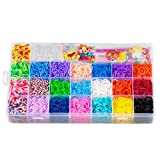 Kyпить STSTECH Colorful Loom Kit-5600 Rubber Bands, 22 Colors, 1 Loom, 2 Y-Shape Mini Looms, 1 Big Hook, 6 Small Hook, 4 Packs S-Clips(200pcs), 1 Pack Silicon Charms, Crystal-like Charms, Beads на Amazon.com
