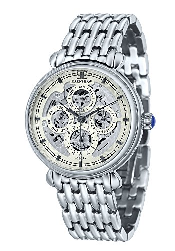 Thomas Earnshaw Men's 'GRAND CALENDAR' Automatic Stainless Steel Casual Watch, Color:Silver-Toned (Model: ES-8043-11)