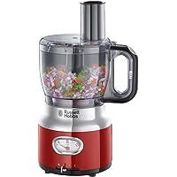 Russell Hobbs 25190-56 Glas-Standmixer Retro Ribbon Red, Retro-Anzeige, Impulse-/Ice-Crush-Funktion, 3 Geschwindigkeitsstufen, 1,1 PS-Motor, 1.5l Glasbehälter, Edelstahl/rot