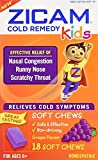 Zicam Cold Remedy for Kids, 18 Soft Chews Each (Pack of 3)