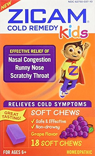 Zicam Cold Remedy for Kids, 18 Soft Chews Each (Pack of 3) ()