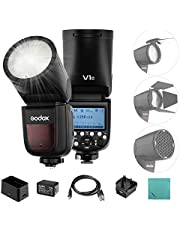 Godox V1-C Professional Flash Speedlite Speedlight Round Head Wireless 2.4G per Canon EOS Series 1500D 3000D 5D Mark lll 5D Mark ll per Wedding Portrait Studio Photography