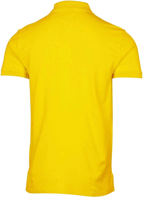 Polo Ralph Lauren Mens Classic Mesh Polo Shirt (L, Bright Yellow)