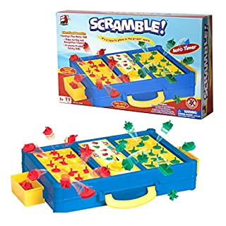 Scramble - Shape Sorting Board Game with A Twist! Race to Match The Shapes in The Right Slots to Against Your Opponent, and Before The Time Runs Out! Promotes Shape Recognition and Problem Solving