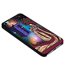Disney Tangled Tardis In GalaxyFor iPhone Case (iPhone 6S black)