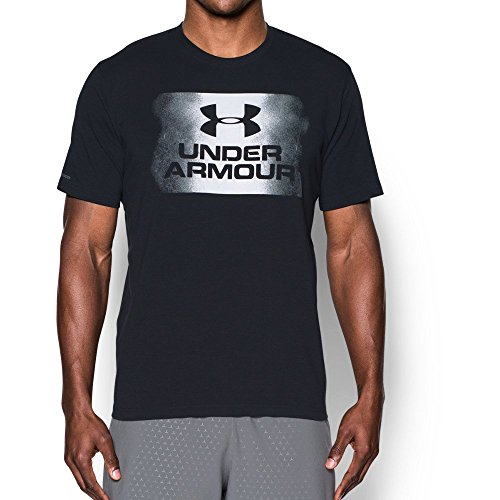 And Logo Black White (Under Armour Men's Overspray Logo T-Shirt, Black (001)/White, Small)